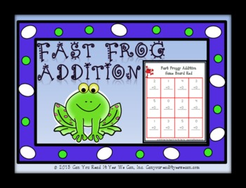 Fast Frog Addition Center