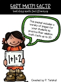 Fast Math Facts - Addition to 20: Building Math Fact Fluency