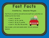 Fast Math Facts Flash Cards by Level
