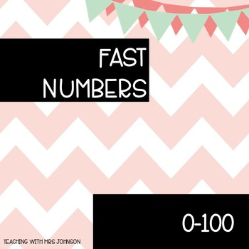 Fast Numbers 0-100 - great number identification practice