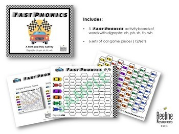 Fast Phonics - Digraphs / Print-and-Play Activity *5 Sets*
