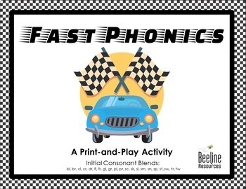 Fast Phonics - Initial Consonant Blends / Print-and-Play Activity *21 Sets*