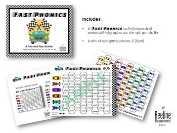 Fast Phonics - Trigraphs / Print-and-Play Activity *6 Sets*