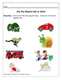 Fast & Slow Tempo Assessment Worksheets