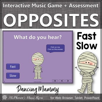 Fast Slow Music Opposite Interactive Music Game {Dancing Mummy}