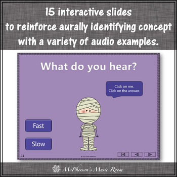 Halloween Music: Fast Slow Interactive Music Game and Assessment {Dancing Mummy}