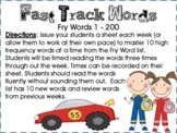 Fast Track Fluency Sight Words (Fry Word Reading Practice)