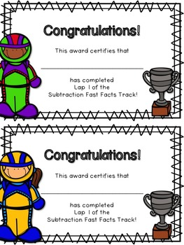 Fast Track to Fast Facts: Subtraction