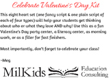 FREE! Valentine's Day Writing Center Activity