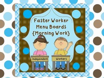 Fast Workers Menu {Morning Work Too}