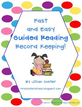 Fast and EASY Guided Reading Record Keeping!