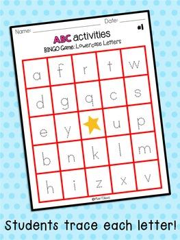 ABC Activities 7: BINGO Game - Lowercase Letters