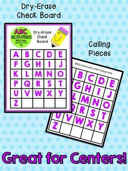 ABC Activities 6: BINGO Game - Uppercase Letters