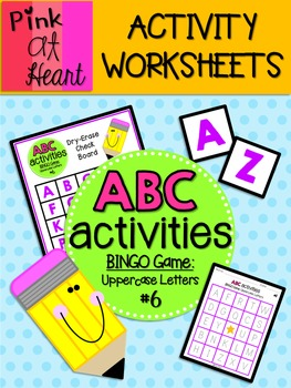 ABC Activities 6: BINGO Game - Uppercase Letters