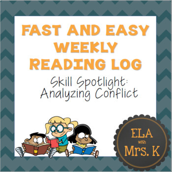Fast and Easy Weekly Reading Log 2 (Skill Spotlight on Conflicts)