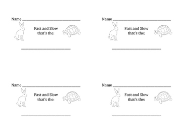 Fast and Slow Tempo Assessment Booklet