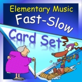 Card Set for Music, K-2nd: Movement-Fast and Slow