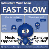 Tempo Fast Slow ~ Music Opposite Interactive Music Game {Spider}