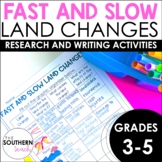 Fast and Slow Land Changes Writing Activity | Distance Lea