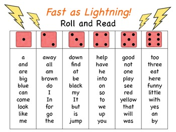 Fast as Lightning! A Roll and Read Fluency Game
