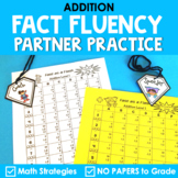 Math Fact Fluency Addition Partner Activity - Super Hero Theme