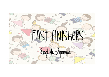 Fast finisher activities English and Spanish