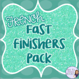 French task card learning station posters