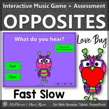 Fast or Slow Interactive Music Game and Assessment {Love Bug}