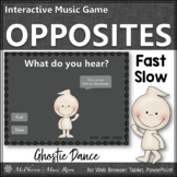 Fall Music Game: Tempo Fast Slow Interactive Music Game {Ghostie}