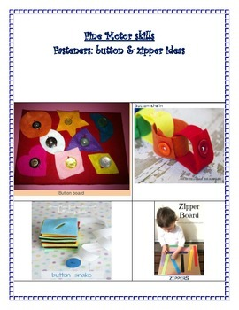 Fasteners and Buttons for Fine Motor Skills
