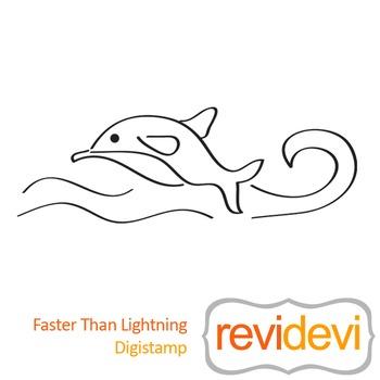 Faster than lightning (digital stamp, coloring image) S033