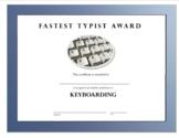 Fastest Typist Award