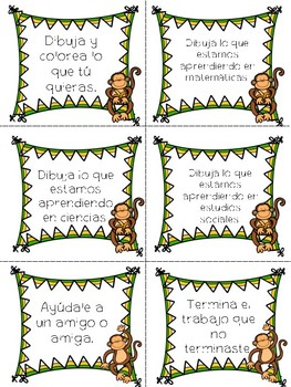 Fast finishers packet in Spanish