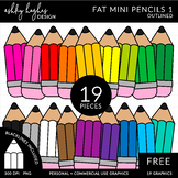 FREE Fat Mini Pencils Clipart {A Hughes Design}