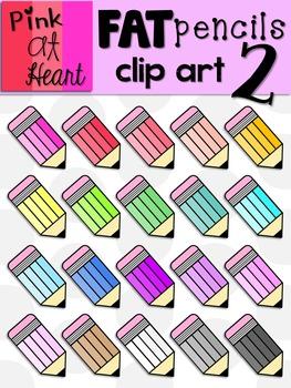 Fat Pencils Clip Art 2