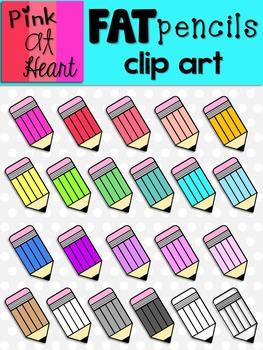 Fat Pencils Clip Art