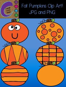 Fat Pumpkins Clip Art  Color Images