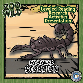 Fat-Tailed Scorpion -- 10 Resources -- Coloring Pages, Rea