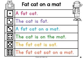 Fat cat on a mat fluency reading