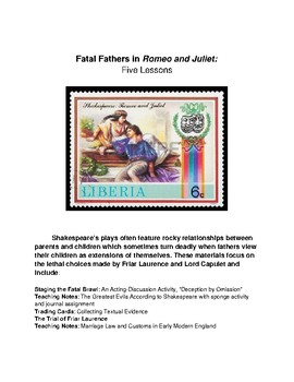Fatal Fathers in Romeo and Juliet