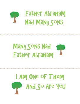 Father Abraham Had Many Sons Song Lyrics for Kids