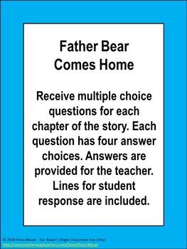 Father Bear Comes Home Book Unit