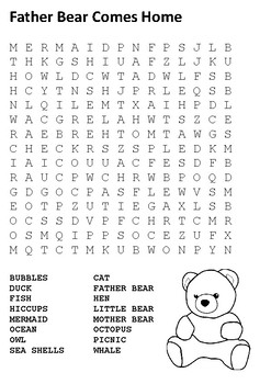 Father Bear Comes Home Word Search