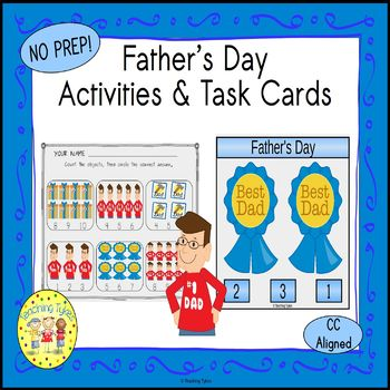 Father's Day Count and Clip Holiday Task Cards