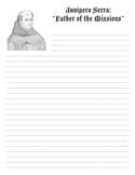 Father Junipero Serra Essay Writing Sheet