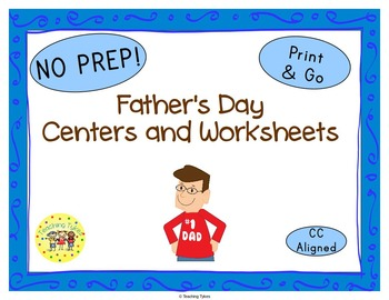 Father's Day Worksheets Activities Games Printables and More