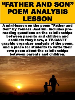 """""""Father and Son"""" Poem Analysis Lesson"""