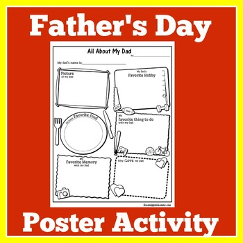 Father's Day Activity   Father's Day Craft   Father's Day Card