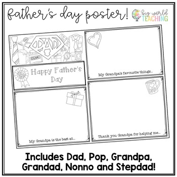 Father's Day - A3 Poster Card