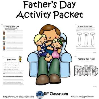 Fathers Day No Prep Activity Packet Printable Worksheets